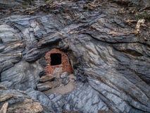 Χαρακτηριστική στριμωγμένη πέτρα σε Argentiera Στοκ φωτογραφίες με δικαίωμα ελεύθερης χρήσης