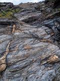 Χαρακτηριστική στριμωγμένη πέτρα σε Argentiera Στοκ Φωτογραφία