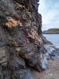 Χαρακτηριστική στριμωγμένη πέτρα σε Argentiera Στοκ Εικόνες