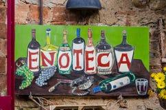 Χαρακτηριστική χειροποίητη πινακίδα τροφίμων Στοκ εικόνες με δικαίωμα ελεύθερης χρήσης