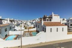 Χαρακτηριστικοί Λευκοί Οίκοι των Κανάριων νησιών, Fuerteventura Στοκ Εικόνες