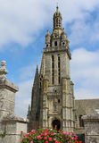 Χαρακτηριστικός πύργος εκκλησιών, Βρετάνη Στοκ φωτογραφία με δικαίωμα ελεύθερης χρήσης