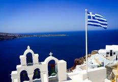 Χαρακτηριστικός σε Santorini στοκ εικόνα