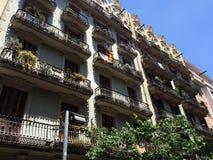Χαρακτηριστικός στη Βαρκελώνη στοκ φωτογραφία