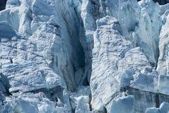 Χαρακτηριστικό γνώρισμα ρωγμών πάγου στον παγετώνα Mendenhall, Αλάσκα στοκ εικόνες