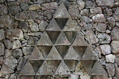 Χαρακτηριστικό πέτρινο σημάδι σε ένα ύφος παλαιού Guanches, Tenerife, κανάρια νησιά, Ισπανία, Ευρώπη Στοκ Φωτογραφίες