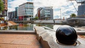 Χαρακτηριστικό παράδειγμα της Σκανδιναβικής αρχιτεκτονικής Στοκ Φωτογραφίες