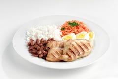 Χαρακτηριστικό πιάτο της Βραζιλίας, του ρυζιού και των φασολιών Στοκ εικόνα με δικαίωμα ελεύθερης χρήσης