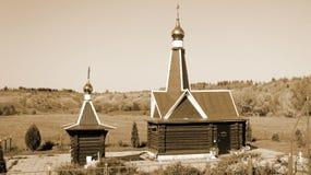 Χαρακτηριστικό ρωσικό ορθόδοξο παρεκκλησι Στοκ Φωτογραφία