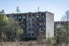 Χαρακτηριστικό σοβιετικό σπίτι διαμερισμάτων στη Σκρούντα 1 στοκ εικόνα με δικαίωμα ελεύθερης χρήσης