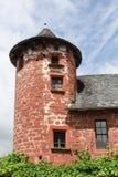 Χαρακτηριστικό σπίτι στο όμορφο χωριό του ρουζ Λα Collonges Στοκ εικόνες με δικαίωμα ελεύθερης χρήσης