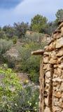 Χαρακτηριστικό σπίτι drystone στην Ισπανία στοκ εικόνες