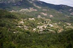 Χαρακτηριστικό τοπίο στην περιοχή Ardeche, Γαλλία Στοκ φωτογραφίες με δικαίωμα ελεύθερης χρήσης