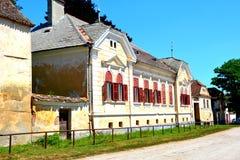 Χαρακτηριστικό τοπίο στο χωριό Dacia, νομός Brasov, Τρανσυλβανία καταστροφές Στοκ εικόνα με δικαίωμα ελεύθερης χρήσης