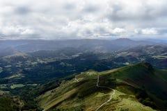 Χαρακτηριστικό τοπίο στο Pays Basque, Γαλλία Στοκ Εικόνες