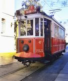 Χαρακτηριστικό τραμ από τη Ιστανμπούλ, Τουρκία στοκ εικόνες