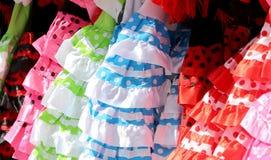 Χαρακτηριστικό χρωματισμένο ισπανικό flamenco φόρεμα, Ανδαλουσία, Ισπανία Στοκ φωτογραφία με δικαίωμα ελεύθερης χρήσης
