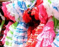 Χαρακτηριστικό χρωματισμένο ισπανικό flamenco φόρεμα Στοκ Εικόνα