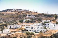 Χαρακτηριστικό χωριό σε Antiparos, Ελλάδα Στοκ εικόνες με δικαίωμα ελεύθερης χρήσης