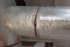 Χαρακτηριστικό wellding χάσμα σωλήνων με την κωνικότητα του σωλήνα και του μικρού χάσματος στοκ φωτογραφίες με δικαίωμα ελεύθερης χρήσης