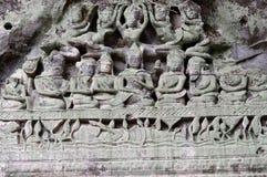 Χαρασμένα αγάλματα, ναός Beng Mealea, Καμπότζη Στοκ εικόνες με δικαίωμα ελεύθερης χρήσης