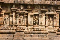 Χαρασμένα είδωλα στον τοίχο Ναός Brihadeeswarar, Gangaikonda Cholapuram Thanjavur Στοκ Εικόνες