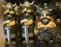 Χαρασμένα ξύλινα παιχνίδια Βίκινγκ Στοκ φωτογραφία με δικαίωμα ελεύθερης χρήσης