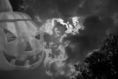 χαρασμένη κολοκύθα αποκριών Στοκ Εικόνα