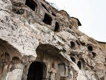 Χαρασμένη κλίση των σπηλιών στο δυτικό Hill σε Longmen Στοκ Εικόνα