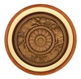 χαρασμένη λεπτομέρεια ξύλ&io Στοκ Εικόνα