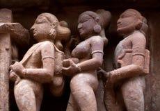 χαρασμένη πέτρα khajuraho της Ινδία&sigmaf Στοκ Φωτογραφία