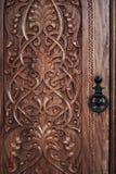 χαρασμένη πόρτα Στοκ φωτογραφία με δικαίωμα ελεύθερης χρήσης
