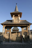 χαρασμένη πύλη ι ξύλινη Στοκ Φωτογραφία
