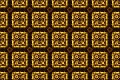 Χαρασμένη χρυσή διακόσμηση, άνευ ραφής σύσταση σχεδίων. Στοκ Φωτογραφία