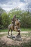 Χαρασμένοι ξύλινοι στρατιώτης και άλογο Στοκ φωτογραφία με δικαίωμα ελεύθερης χρήσης