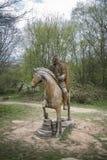 Χαρασμένοι ξύλινοι στρατιώτης και άλογο Στοκ εικόνα με δικαίωμα ελεύθερης χρήσης