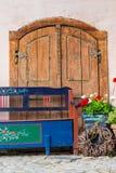 χαρασμένος δέσμη τρύγος σταφυλιών διακοσμήσεων ξύλινος Στοκ Φωτογραφία