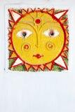 χαρασμένος ήλιος λαογρ&al Στοκ εικόνα με δικαίωμα ελεύθερης χρήσης