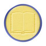 χαρασμένος κουμπί χρυσός guestbook διανυσματική απεικόνιση