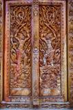 χαρασμένος ναός πορτών Στοκ εικόνα με δικαίωμα ελεύθερης χρήσης