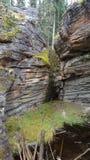 Χαρασμένος νερό σχηματισμός βράχου στοκ εικόνα