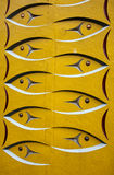Χαρασμένος πόλος τοτέμ ψαριών στοκ εικόνες με δικαίωμα ελεύθερης χρήσης