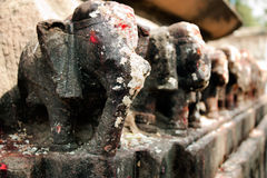 χαρασμένο άγαλμα της Ινδία& Στοκ φωτογραφία με δικαίωμα ελεύθερης χρήσης