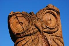 Χαρασμένο γλυπτό κουκουβαγιών Στοκ Φωτογραφία