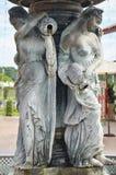 Χαρασμένο και ευρωπαϊκό ύφος φυλάκων αγγέλου αγαλμάτων γλυπτών Στοκ φωτογραφία με δικαίωμα ελεύθερης χρήσης