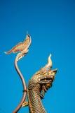 Χαρασμένο ξύλο φίδι Στοκ Εικόνες