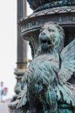 Χαρασμένο φτερωτό λιοντάρι στη Βενετία Στοκ φωτογραφίες με δικαίωμα ελεύθερης χρήσης