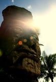Χαρασμένο Hawaiaan κεφάλι tiki Στοκ Φωτογραφίες