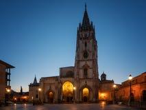 Χαραυγή σε Οβηέδο, Ισπανία στοκ φωτογραφίες με δικαίωμα ελεύθερης χρήσης