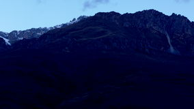 Χαραυγή στα βουνά Καύκασου απόθεμα βίντεο